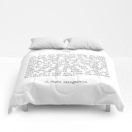 Life quote F. Scott Fitzgerald Comforters
