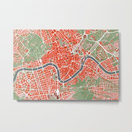 Rome city map classic Metal Print