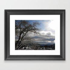 Winter in Spring Framed Art Print