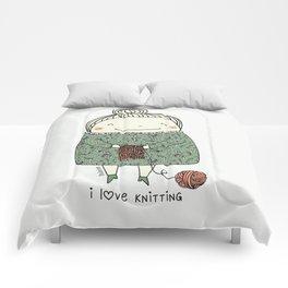 I love knitting Comforters