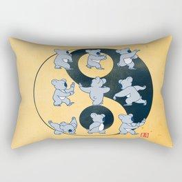 Koala Bear Tai Chi Moves Rectangular Pillow