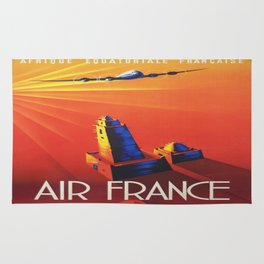 Vintage poster - French West Africa Rug