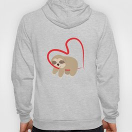 Dear Valentine's Day Sloth Sweet Cute Gift Hoody