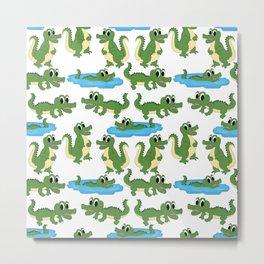 Crocodile Neck Gator Croc Metal Print