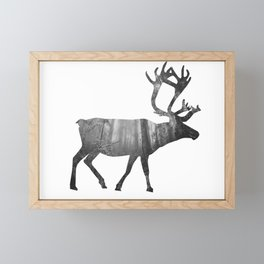 Moose Silhouette | Forest Photography Framed Mini Art Print