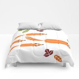 Foxes Hunting Comforters
