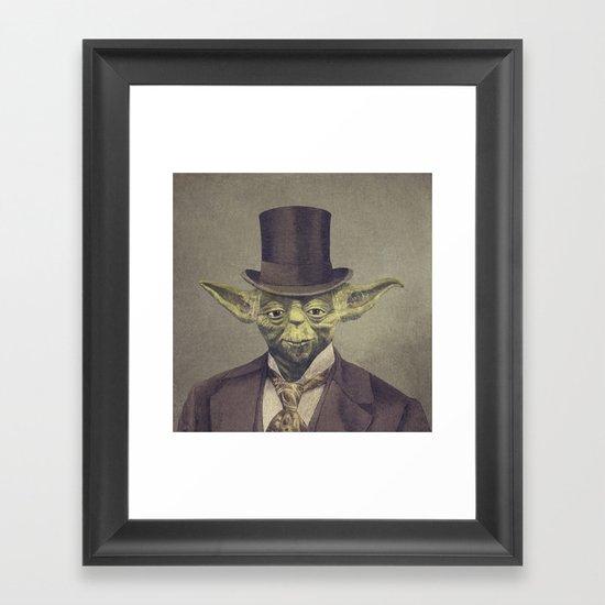 Sir Yodington  - square format Framed Art Print