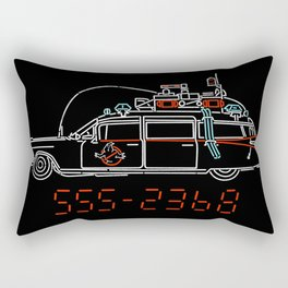 Who You Gonna Call? Ghostbusters Original Hearse Car Rectangular Pillow