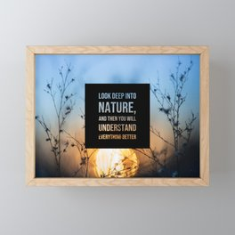 Look deep into nature - Earth Collection Framed Mini Art Print