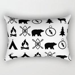 Outdoor Icon Pattern Rectangular Pillow