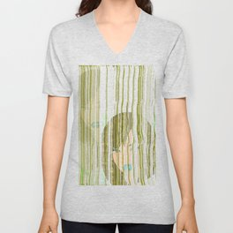 The Girl with the Yellow Hair Unisex V-Neck
