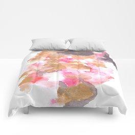 Watercolor Pink Black Flow | [dec-connect] 5. choppy Comforters