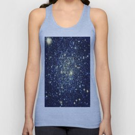 galaxY Stars : Midnight Blue & Gold Unisex Tank Top