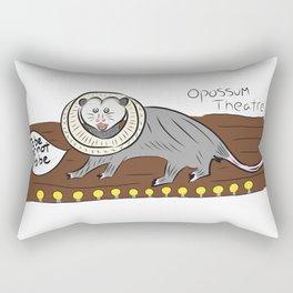 Opossum Theatre Rectangular Pillow