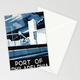 Vintage poster - Port of Philadelphia Stationery Cards