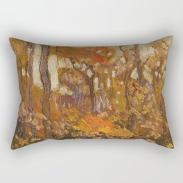 Tom Thomson - Autmn, Algonquin Park  - Canada, Canadian Oil Painting - Group of Seven Rectangular Pillow