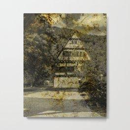 Old half-timbered House ( Klosterhof Blaubeueren ) Metal Print