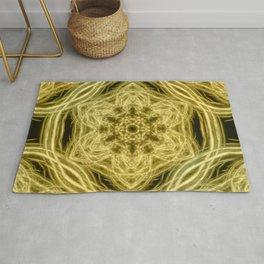 Elegant gold kaleidoscopes Rug