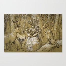 Cernunnos (monochrome) Canvas Print