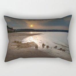 Sandcastles at sunset Rectangular Pillow