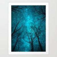 colour Art Prints featuring Stars Can't Shine Without Darkness  by soaring anchor designs
