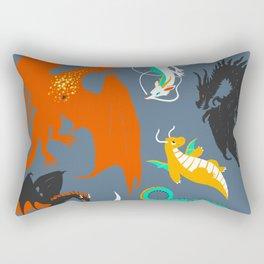 A Flight with Dragons Rectangular Pillow