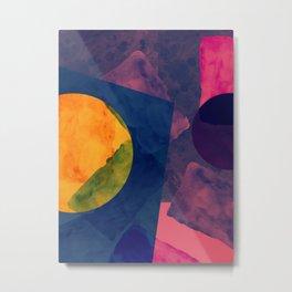Abstrato Aquarela 001 Metal Print