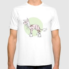 Chinese crested Mens Fitted Tee White MEDIUM