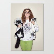 Crazy Cat Lady Photograph Canvas Print