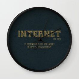 Internet est. 1990's Wall Clock