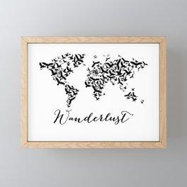 Wanderlust world map Framed Mini Art Print