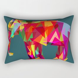 geometric pattern, elephant Rectangular Pillow