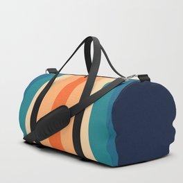Retro Classic 70's Stripes Duffle Bag