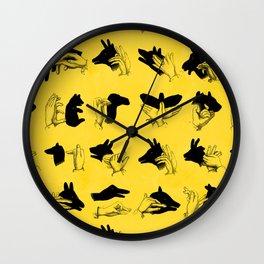 Yellow Shadow Puppets Wall Clock