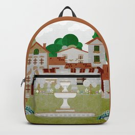 Ancient houses 4 Backpack
