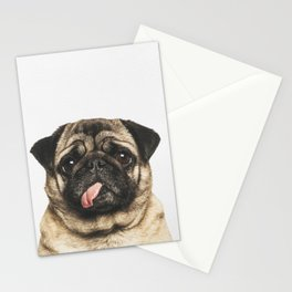 Cheeky Pug Stationery Cards