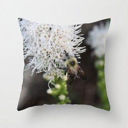 Bee Collecting Pollen 2 Throw Pillow