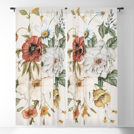 Wildflower Bouquet Blackout Curtain