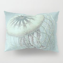 Jellyfish Underwater Aqua Turquoise Art Pillow Sham
