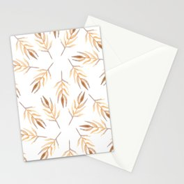 Autumn leaves pattern. Stationery Cards