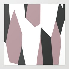 Gray Pink and White abstract Canvas Print