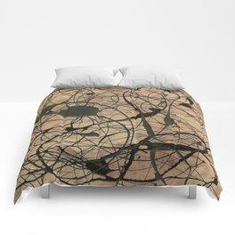Pollock Inspired Cool Abstract Splatter Drip Painting - Corbin Henry Comforters