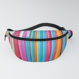Colorful Rainbow Pipes Fanny Pack