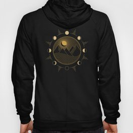 Lunar Phases With Mountains Hoody
