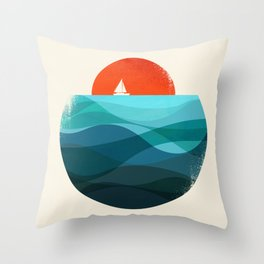 Deep blue ocean Throw Pillow