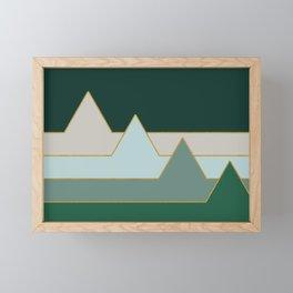 Green Mountains #society6 #decor #buyart Framed Mini Art Print