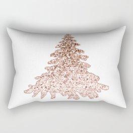 Sparkling christmas tree rose gold ombre Rectangular Pillow