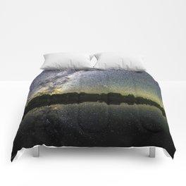 Henry Lake New Zealand Under Southern Hemisphere Skies By Olena Art Comforters