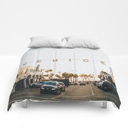 venice / los angeles, california Comforters