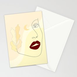 Romantic woman Stationery Cards
